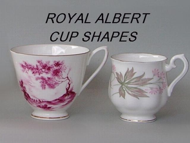 Royal Albert Cup Shapes