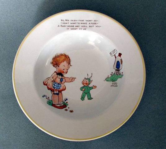 Mabel Lucie Attwell Fairy bowl