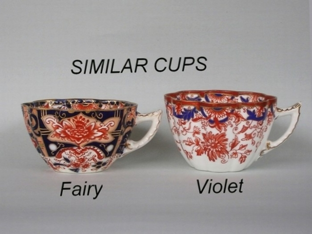 Similar cup shapes - Fairy / Violet