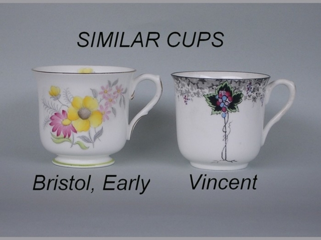 Similar cup shapes - Bristol, Early / Vincent
