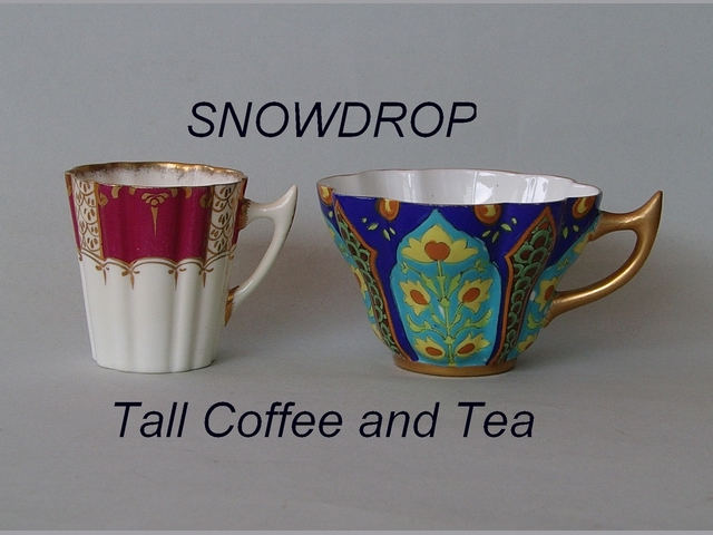 SNOWDROP Tall Coffee and Tea