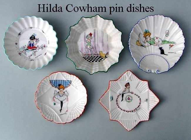 Hilda Cowham pin dishes