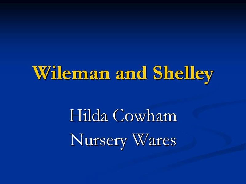 Title card - Hilda Cowham Nursery Wares