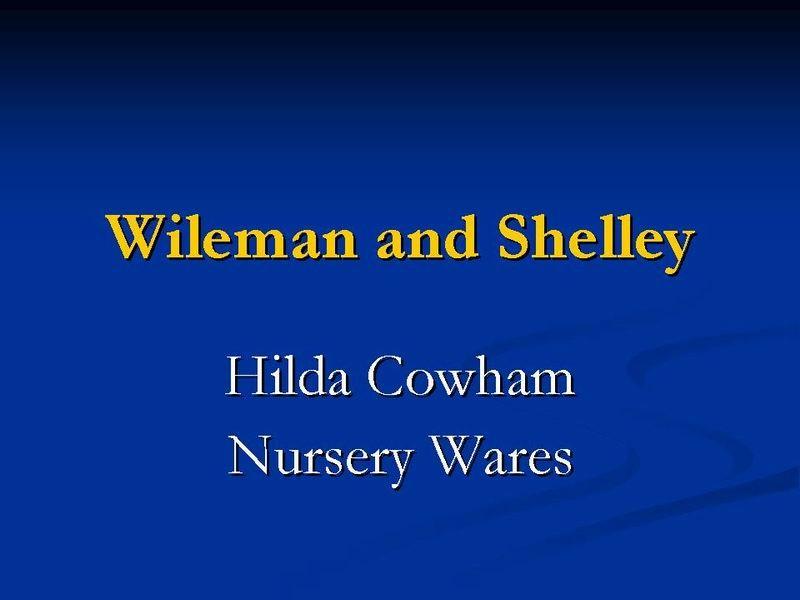 Title card - Hilda Cowham Nursery Wares