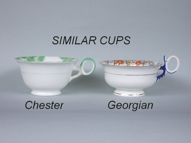 Similar cup shapes - Chester / Georgian