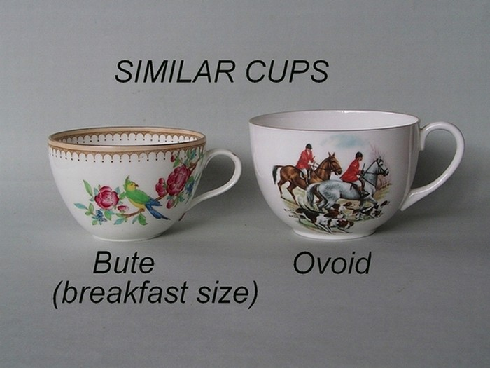 Similar cup shapes - Bute (breakfast size) / Ovoid