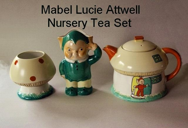 Mabel Lucie Attwell Tea Set