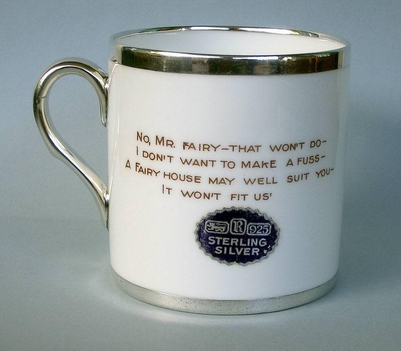 Mabel Lucie Attwell silver trim mug