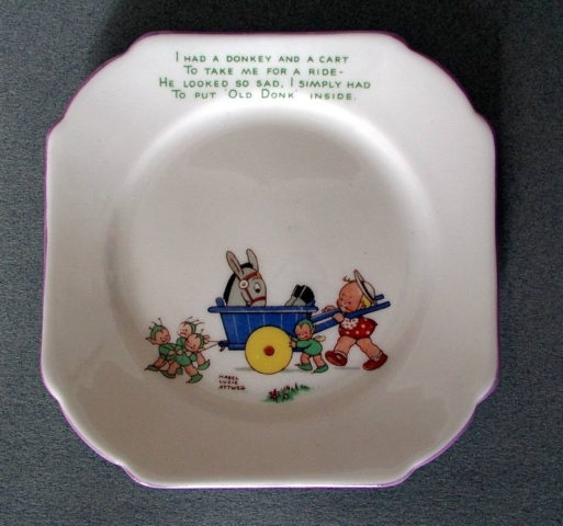 Mabel Lucie Attwell Donkey plate