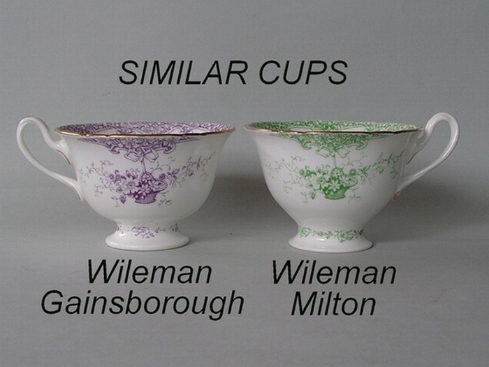 Similar cup shapes - Wileman Gainsborough / Wileman Milton