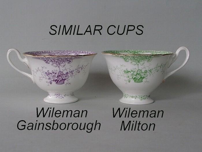 Similar cup shapes - Wileman Gainsborough / Wileman Milton