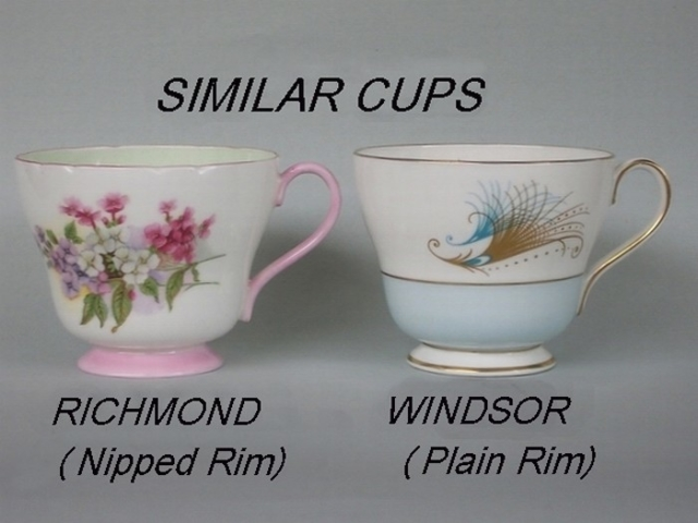 Similar cup shapes - Richmond / Windsor