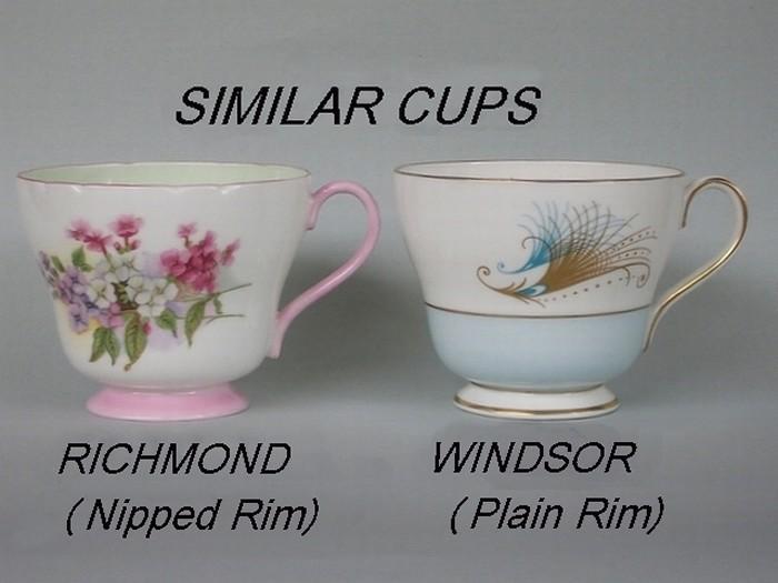 Similar cup shapes - Richmond / Windsor
