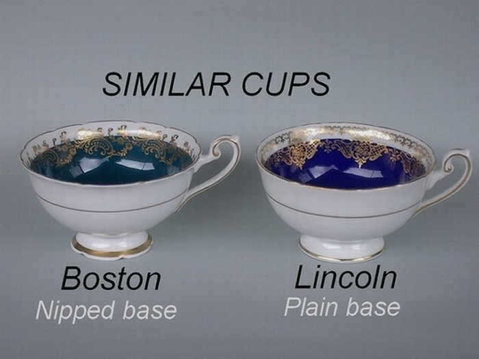 Similar cup shapes - Boston / Lincoln