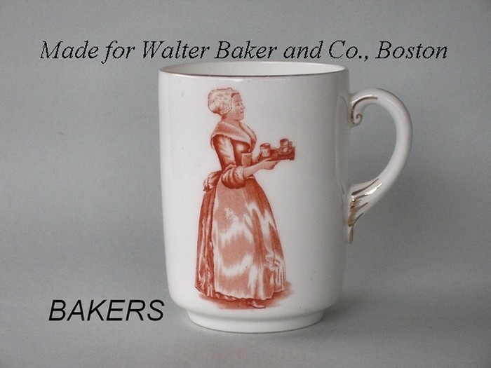 BAKERS Made for Walter Baker and Co., Boston
