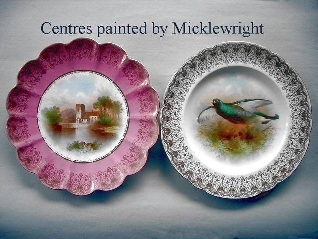 Centres painted by Frederick Micklewright
