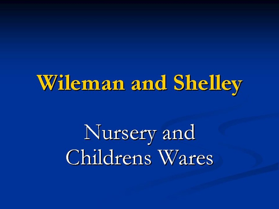 Title card - Nursery and Childrens Wares