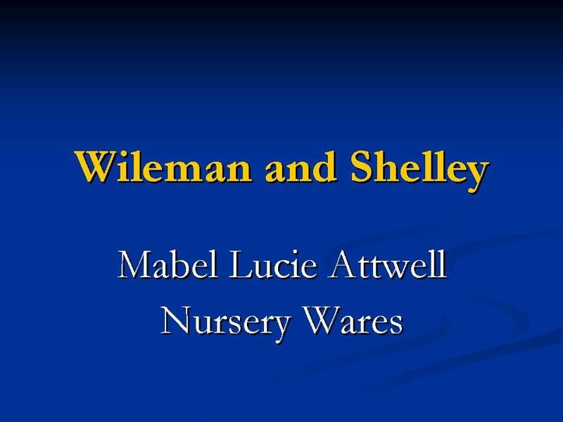 Title card - Mabel Lucie Attwell Nursery Wares