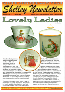 Cover of Shelley Newsletter Volume 22 No. 1 March 2008