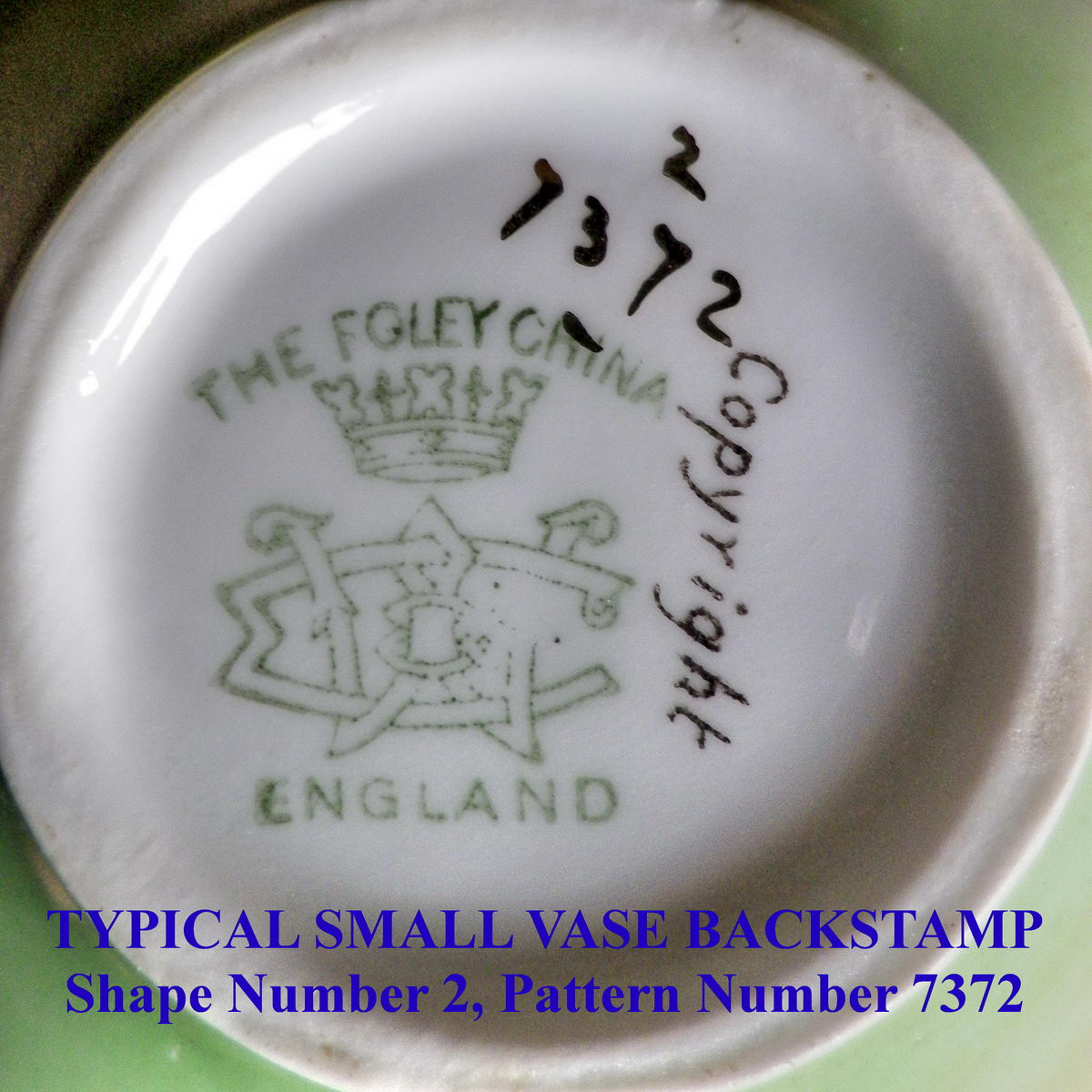 Typical Small Vase Backstamp